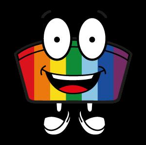 Mehrwegschale Icon Häppy Bowl® in Regenbogenfarben